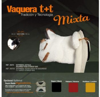 Zaldi Vaquera T+T Mixta saddle
